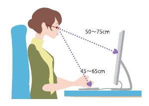 パソコン距離イメージ画像2